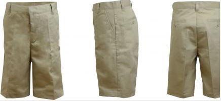 K&A Company Boys Flat Front Shorts Khaki - Size 7 Case Pack 24