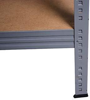 Archivregal Werkstattregal Haushaltsregal Ordnerregal Shelf Creations Expert Schwerlastregal grau 200x80x40 cm mit 6 B/öden Steckregal aus Metall verzinkt: Lagerregal geeignet als Kellerregal