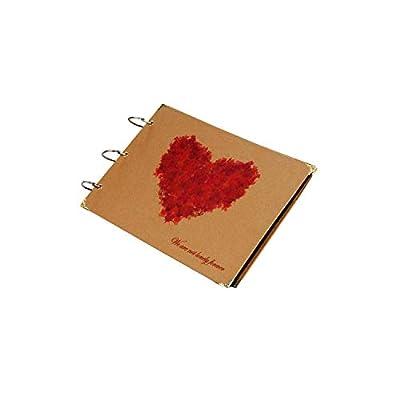 Photo Album DIY Paperboard Love Photo Album 30 Pages Mini Instant Pictures Album for Memory Saving Vintage Maple Leaf DIY Photo Albums