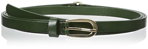elise m. Women's Charlize Skinny Double Wrap Leather Belt, Military, Small/Medium