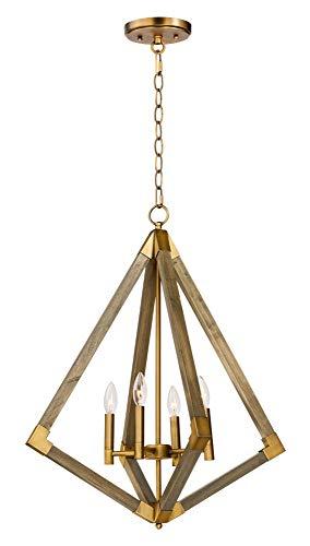 Maxim Lighting 12254 Single Pendant Weathered Oak/Antique ()