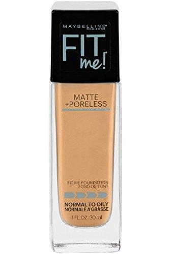 Maybelline Makeup Fit Me Matte + Poreless Liquid Foundation Makeup, Natural Beige Shade, 1 fl oz