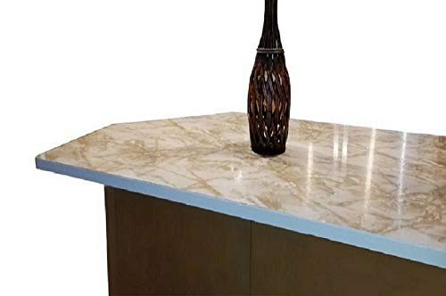 Marble Contact Paper Creme Brulee White Roll Upgrade Kitchen Countertop Backsplash Cabinet Furniture EZ FAUX DECOR Durable Thick Waterproof Heat Resistant Easy to Remove. (36