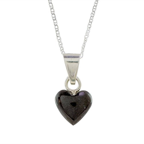 NOVICA Jade .925 Sterling Silver Heart Shaped Necklace, 18