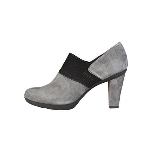 gris vestir Absatz Geox Slipper mujer Damen para Geox Inspiration gris Zapatos grau 8cm de SOwfwYxzq