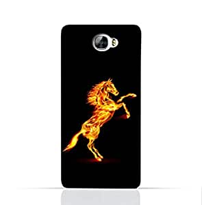 Huawei Y6 II Compact TPU Silicone Case With Horse on Flame Design
