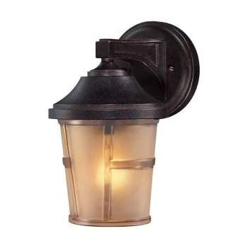 Hampton Bay 2 Pack Exterior Wall Lantern Light Fixture Bronze Base With Champagne