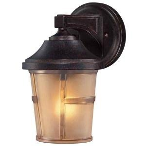 Amazon hampton bay 2 pack exterior wall lantern light fixture hampton bay 2 pack exterior wall lantern light fixture bronze base with champagne sand mozeypictures Images