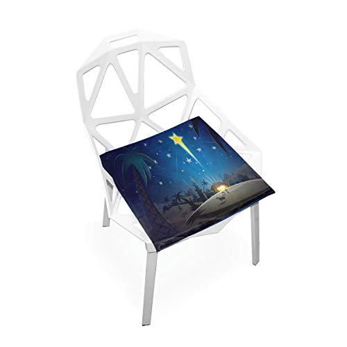 (Pingshoes Seat Cushion Star Bright - Christmas Chair Cushion Offices Butt Chair Pads Square Wheelchairs Mat for Computer)