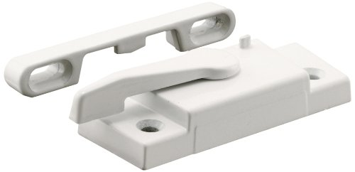 (Prime-Line Products F 2626 Window Sash Lock with Keeper, Right Hand, White, Better Bilt)