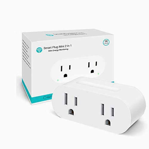 Wifi Smart Plug - Yooker Mini Dual Outlets Socket with Energy Monitor, Compatible with Alexa Echo, Google Home and IFTTT, [Upgraded Version]