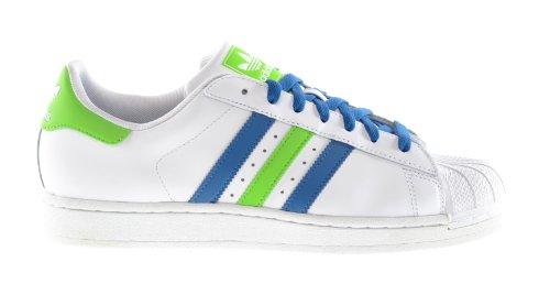 Adidas Originals Superstar II Men's Sneakers Running White/Blue/Green q33036-9.5