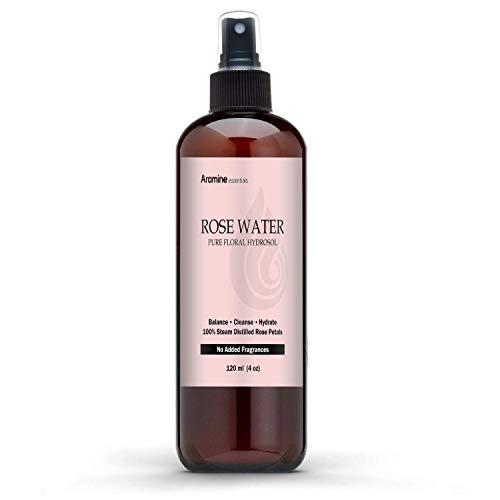 (Rose Floral Water Hydrosol, 4oz (120ml))