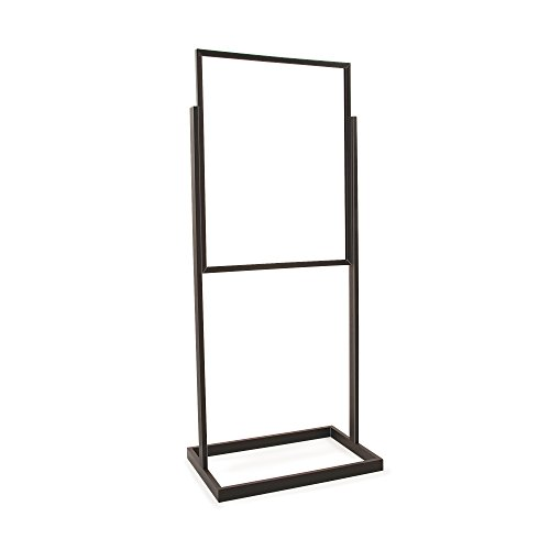 - Econoco BH30/MAB| Black Bulletin Sign Holder with Rectangular Tubing Base, 22