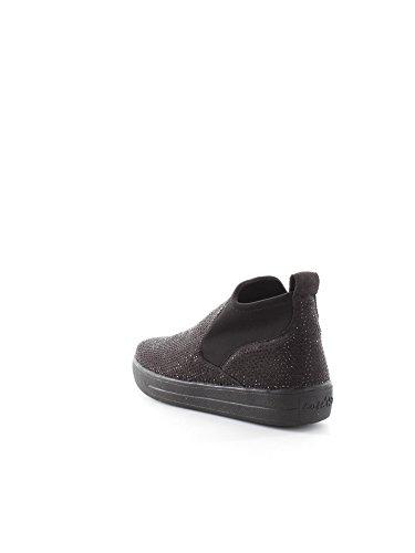 CAF NOIR DB925 schwarze Damenschuhe Stiefel Buchse beatles elastischen Strass Multinero