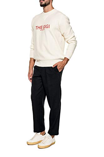 Tongaj036900 Uomo The Lana Gigi Pantaloni Nero qfS6R