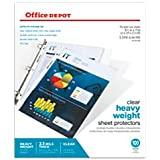 Office Depot Heavyweight Sheet Protectors, 8 1/2in. x 11in., Clear, Pack Of 100, OD491658