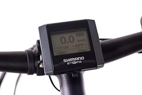 Leader 28 Zoll E-Bike Trekkingrad City Bike Damenrad Motion mit 9G DEORE SLX /& Shimano Steps grau matt