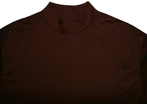 Daniel Cremieux Mens Long Sleeve Mock Turtleneck Shirt Cotton Rust (X-Large)