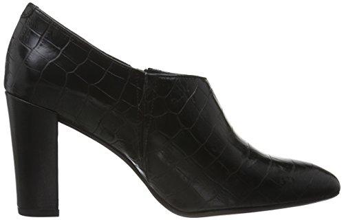 GARDENIA COPENHAGEN Women's Albine Closed-Toe Pumps Black (Croco Black) W620MZg