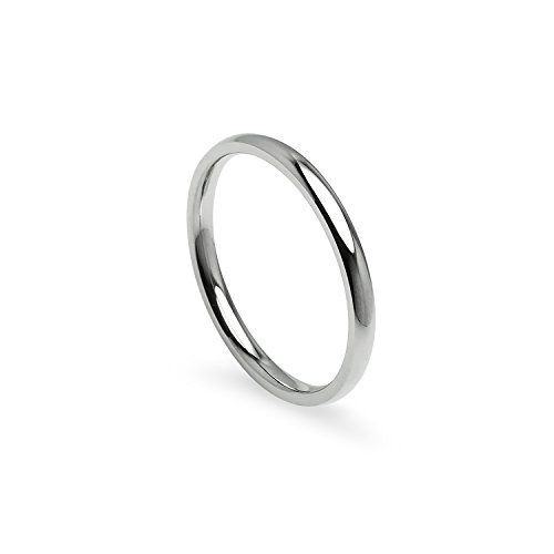 Silverline Jewelry 2mm Stainless Steel Prime Comfort Fit Unisex Wedding Band Ring Size 5, 6, 7, 8, 9, 10, 11, 12, 13 w/Gift Pouch (8.5) ()