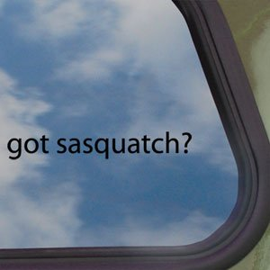 Got Sasquatch? Black Decal Bigfoot Yetti Window Sticker