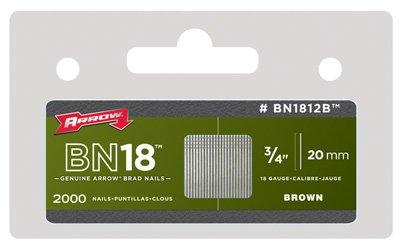 Arrow Fastener BN1812BCS 3/4-Inch Brown Brad Nails, 2000-Pack - Quantity 6