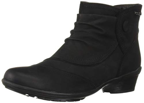 - Rockport Women's Raven Waterproof Button Boot Ankle, Black Nubuck, 8.5 W US