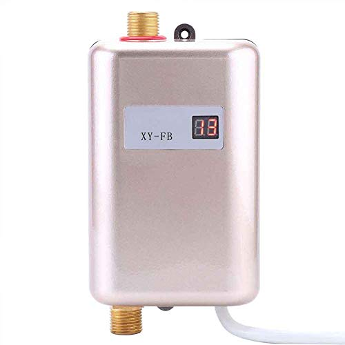Instantaneous Water Heater - Mini Electric Tankless Water Heater 3000W/3800W Instant Electric Water Heating Shower 3 Seconds Hot US/EU Plug,gold,110V
