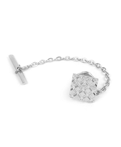 boxed-gifts Square Diamond Texture Silver & Gold Tone Premium Tie -