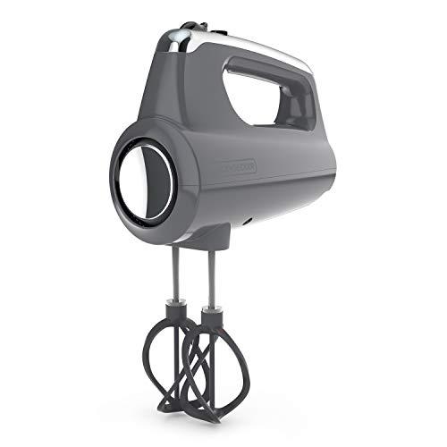Black+Decker MX600G Helix Performance Premium Hand, 5-Speed Mixer, Grey, 5 Attachments + Case