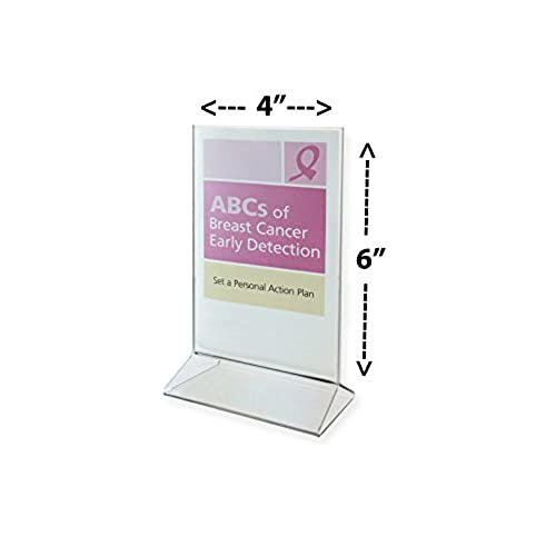 Good Marketing Holders X Acrylic Sign Holder Crystal Clear - Table tent card holders