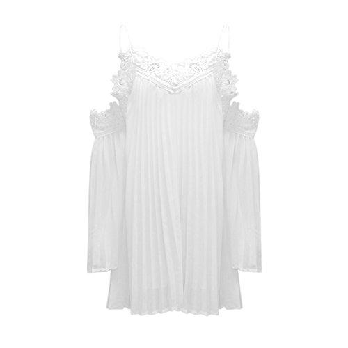 LAEMILIA Robe Mini Femme Tunique Grande Taille Floral Dentelle Mousseline  de Soie Casual Sexy Vintage Boho Mini-Robe Crochet  Amazon.fr  Vêtements et  ... ea0011054e5e
