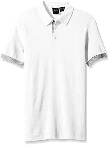 A|X Armani Exchange Men's Core Striped Tipped Polo