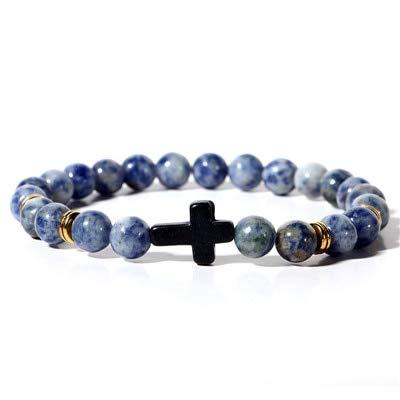 Amazon.com: Gabcus Charm Bracelet for Men 8mm Black Lucky ...