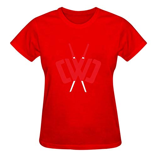 - GCASST Chad Wild Clay Printed Women's T Shirt, Cotton Short Sleeve Tees, Graphic Summer Tops Red