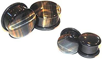 Intrepid Jewelry Clear Faceted Glass Plugs Double-Flared