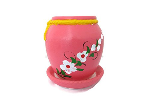 Small jar Ceramic Potted Plants, Flower pot ceramic indoor outdoor,tabletop ceramic potted plants, Cute Ceramic planter, Plant pot, mini square plant pot(Pink)