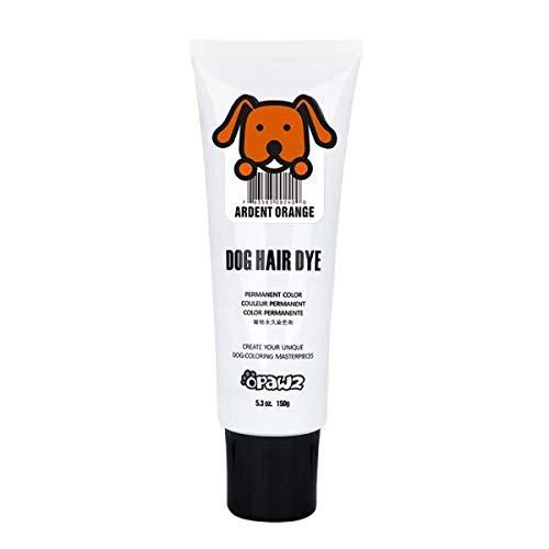 DOG HAIR DYE GEL (ORANGE) Bright, Fun Shade, Semi-permanent, completely non-toxic -