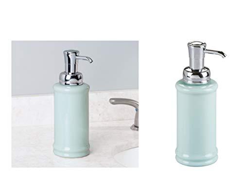 InterDesign Hamilton Glass Soap & Lotion Dispenser Pump for Kitchen or Bathroom -