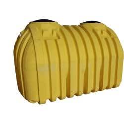 Norwesco 41721 1000 Gallon Yellow Septic Tank Two Compartment Disposable Household Food