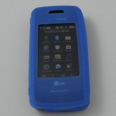 Blue Silicone Skin Case for Verizon LG Voyager VX10000 (Lg Voyager Verizon compare prices)