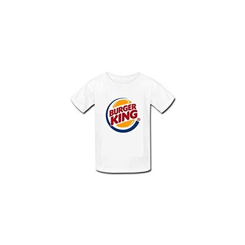 - Es-Burgers-Kings Unisex Toddler Kids Boys/Girls Fashion Logo T Shirt White