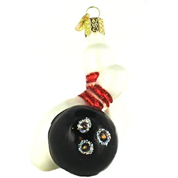 Amazon.com: Old World Christmas Bowling Ball & Pins Ornament: Home ...