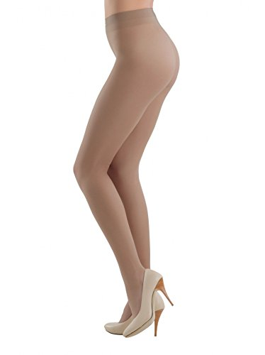 Conte America Elegant Satin Sheer to Waist Pantyhose Tights TANGO 40 den (XXL, Mocca) (Tights Satin)