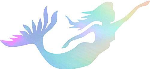(Animal Mermaid WILDLFIE (Hologram) (Set of 2) Premium Waterproof Vinyl Decal Stickers for Laptop Phone Accessory Helmet Car Window Bumper Mug Tuber Cup Door Wall Decoration)