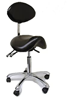 ergonomic chair betterposture saddle chair. spa luxe rolling stool with back support for beauty exam office and home ergonomic chair betterposture saddle l