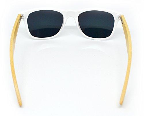Star Blanco de Millennium Irid colección WOOD nueva gafas 2018 sol de unisex dnFvCwaSqF