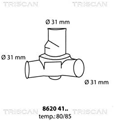 coolant Triscan 8620 25487 Thermostat