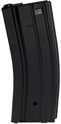 SportPro Jing Gong 300 Round Metal High Capacity Magazine for AEG M4 M16 Airsoft - Black